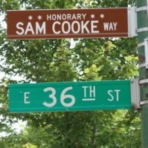The honorary Sam Cooke Way at 36th St.; photo stolen from somebody's Pinterest